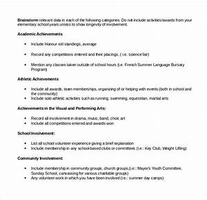 Free Resume Templates Scholarship Outline job resume