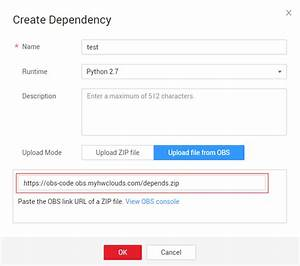 Dependency Management Functiongraph User Guide Basic