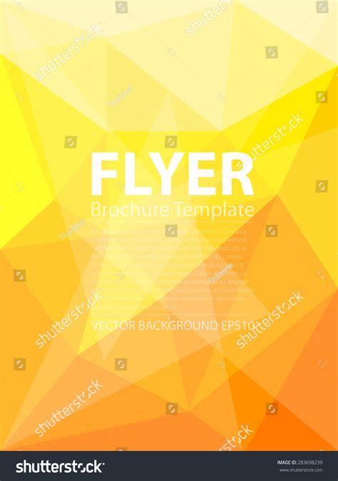 Yellow Brochure Design Vector Millions Vectors Yellow Triangle Polygonal Vector Background Brochure