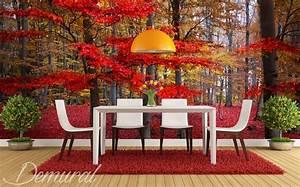 Rote Blätter Baum : rote bl tter an dem baum fototapeten wald fototapeten ~ Michelbontemps.com Haus und Dekorationen