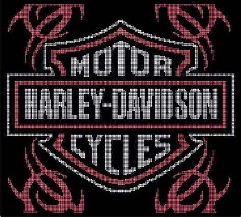 Harley Davidson Filet Crochet Pattern