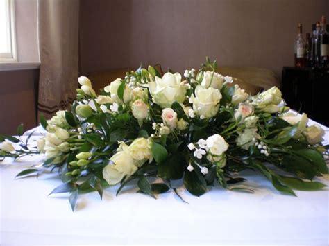 wedding top table flowers  pinterest wedding