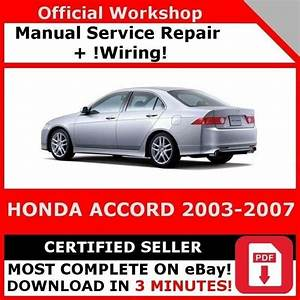 Factory Workshop Service Repair Manual America Honda Accord 2003