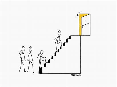 Career Ladder Corporate Ceo Moving Lifehack Climb