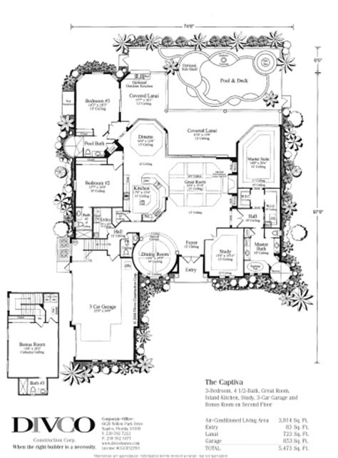 Home Builder Floor Plans by Outstanding Floor Plans Custom Home Builder Naples Florida