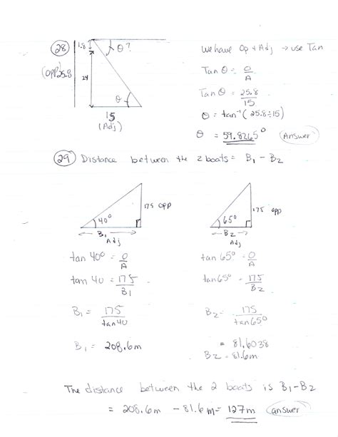 math worksheets trigonometry word problems precalculus