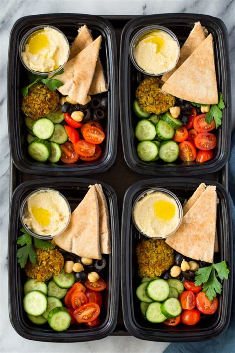 falafel hummus  salad meal prep bento boxes gimme