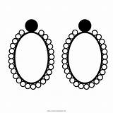 Earrings Coloring Pages sketch template