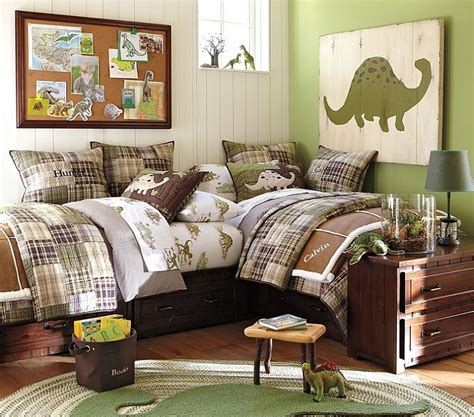 Dinosaur Bedroom by Bedrooms With Dinosaur Themed Wall And Murals