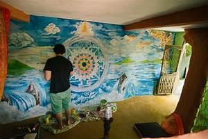 Santa Mandala wall painting - Andrei Verner