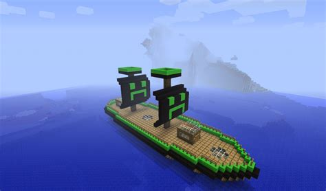 Minecraft Boat Banner by Creeper Boat Minecraft Project