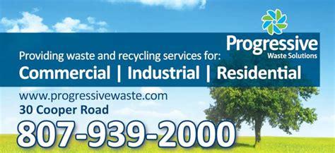 progressive waste phone number progressive waste solutions 30 cooper rd thunder bay on