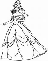 Belle Disney Princess Coloring Pages Beauty Getcoloringpages sketch template