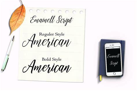 emainell script book template print ads web design