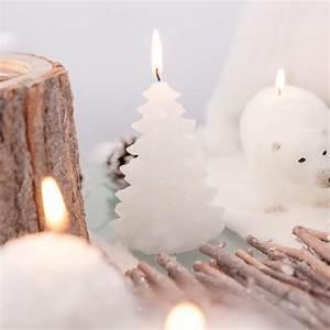 Bougies De Noel : bougie sapin de no l blanche ~ Melissatoandfro.com Idées de Décoration