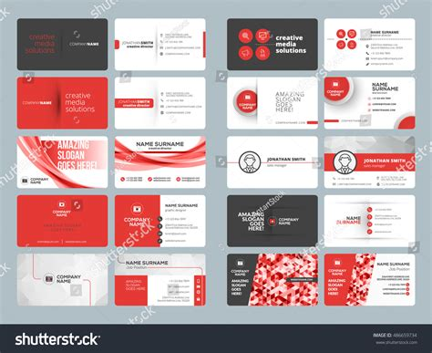 Business Card Templates Stationery Design Vector Stock Blank Business Cards Printable Where To Print Berlin Holiday In Bulk Thank You Scan For Beauty Salon Buy Card The Clinic