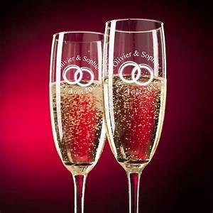 Flute A Champagne : cadeau fl tes champagne cristal personnalis es d cor alliances ~ Teatrodelosmanantiales.com Idées de Décoration