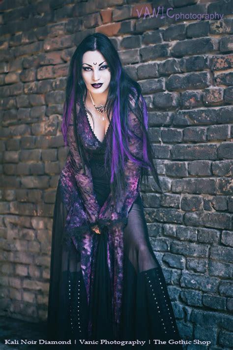 opium black purple gothic dress  punk rave ladies gothic