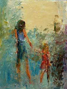 Artful Ideas: Holding Hands - abstract painting of mother ...