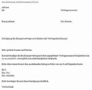 Kündigungsfrist Berechnen Wohnung : k ndigungsschreiben bausparvertrag schnell und sicher ~ Themetempest.com Abrechnung