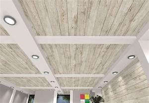 White barn wood ceiling panels see more designs at for Barn wood ceiling panels