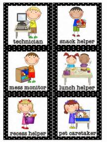 Classroom Job Helper Line Leader Clip Art