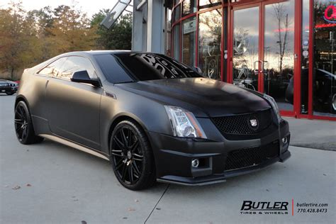 matte black cadillac cts  coupe   xo milan wheels flickr