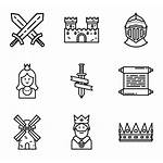 Medieval Icon Icons Castle Svg Map Fantasy