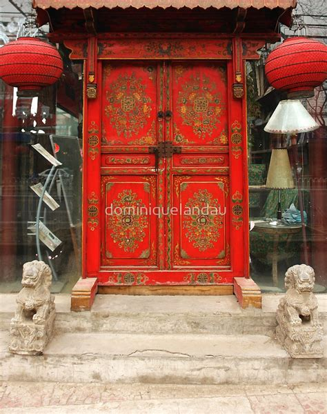 """""""chinese Red Door"""" By Dominiquelandau  Redbubble. 36 Inch Bar Stools. Gray Area Rug. Hemnes 6 Drawer Chest Black Brown. Indoor Gas Grill. Narrow Coffee Table. Light Bulbs Etc. Oversized Coffee Table. Light Fixture"""