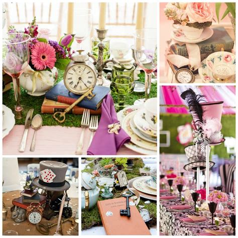 alice and wonderland table decorations alice in wonderland wedding theme perfect details