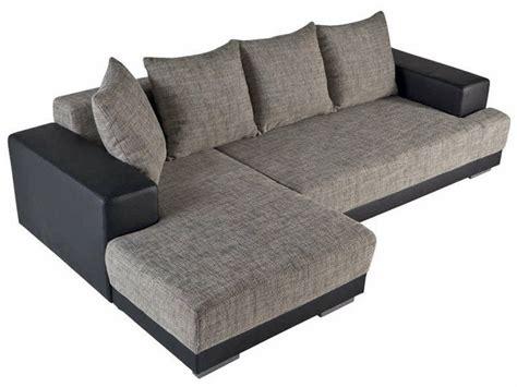 canapé d angle gris et noir canapé convertible d 39 angle gauche toast coloris noir gris