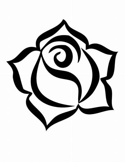 Coloring Roses Rose Printable Popular