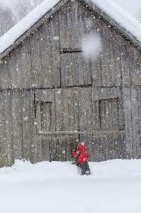 Country Barn with Snow
