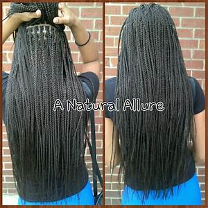 Waist-length box braids using 5 packs of X-pression ...