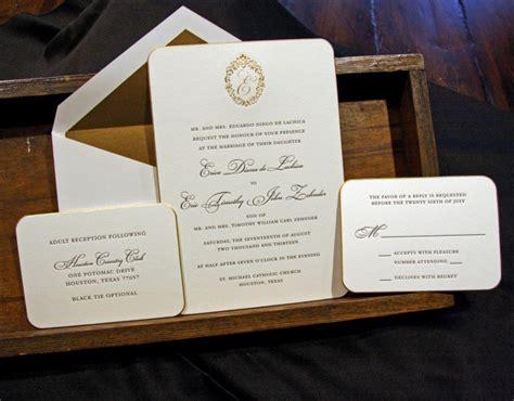 Houston Letterpress Wedding Invitations Printi On Wedding