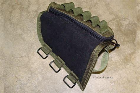 tactical operations ammo cheek pad shotgun loops in od green range accessories