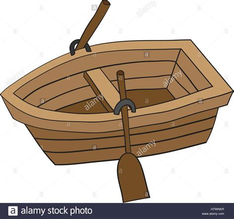 Little Boat Cartoon by Illustration Of Cute Cartoon Doodle Of Wooden Row Boat