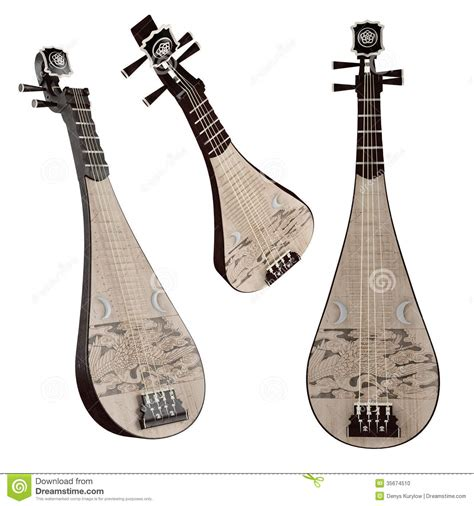 pipa traditional chinese musical instrument stock photo