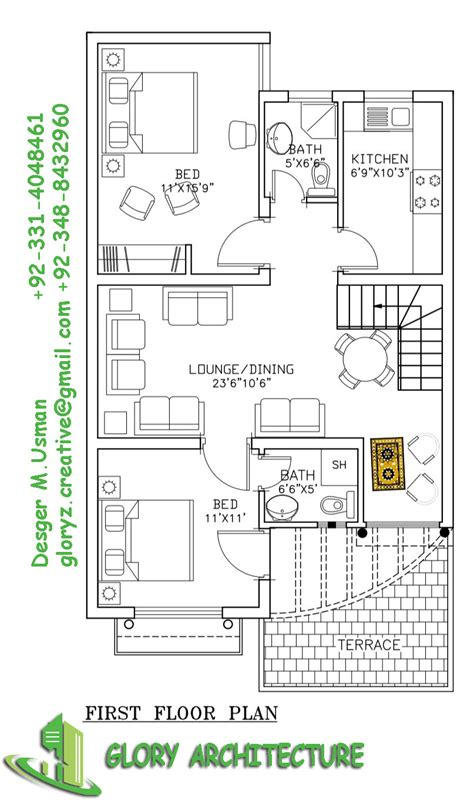 house plan  marla house plan glory architecture