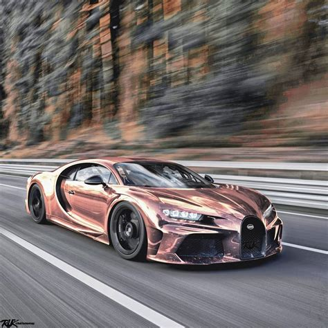 "Only a few times in. Chrome Rose Gold Bugatti Chiron Super Sport Shows ""Mirror"" Spec - autoevolution"
