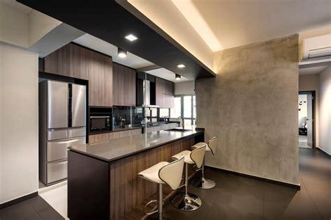 cement screed wall interior design singapore interior