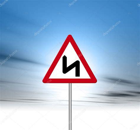 zag zig road sign route signe depositphotos