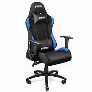 Iprotect Gaming Stuhl : iprogaming gaming stuhl liegefunktion bezug aus stoff in schwarz blau belastbarkeit bis ~ Watch28wear.com Haus und Dekorationen