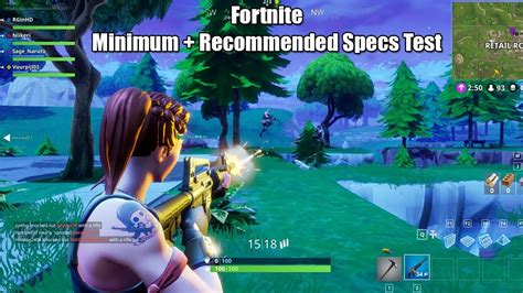 fortnite    minimum recommended system