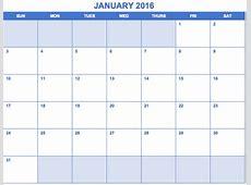 Free Printable Month Calendar 2016 Monthly Calendar