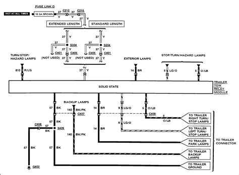 Ford Wiring Diagram For Trailer by Need A Wiring Diagram For The Trailer Hitch For Same Car