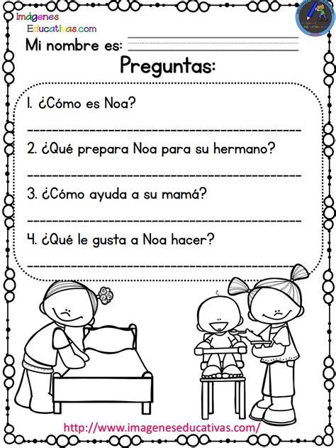 Lecturas Comprensivas Para Primaria Noa Y Hugo (2