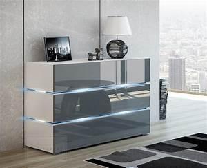 Sideboard Braun Weiß : sideboard wei grau hochglanz deutsche dekor 2018 online kaufen ~ Markanthonyermac.com Haus und Dekorationen