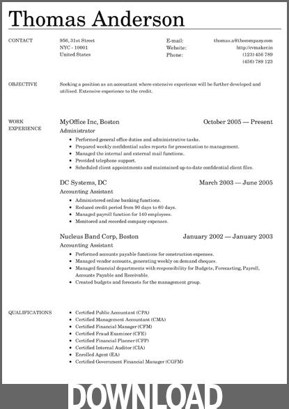 12 free microsoft office docx resume and cv templates