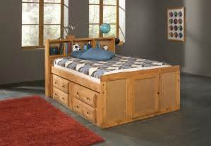 Under Bed Dresser Queen by Oak Finish Children Full Size Bed With Bookcase Storage